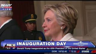 WOW: Hillary Clinton and Bill Clinton Somber Just MOMENTS Before Donald Trump is Inaugurated