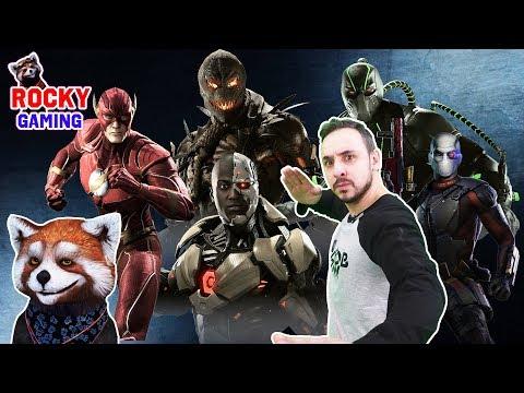 РОККИ и ПАПА РОБ играют в INJUSTICE 2! Часть 1: файтинг с супергероями!