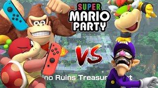 Super Mario Party: Two Joy-cons vs Two Master CPUs - Domino Ruins