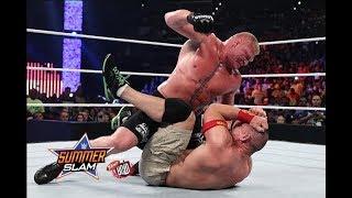 WWE  Brock lesnar  vs john cena New Fight  2018