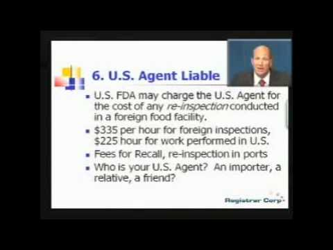 U.S. FDA EXPORT REGULATIONS - Part 6: Top 10 Requirements of Food Safety Modernization Act (FSMA)