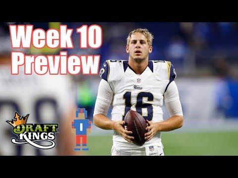 NFL Week 10 Preview & Picks - DraftKings