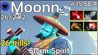 26 kills! Moonn [Mineski] plays Storm Spirit!!! Dota 2 7.21