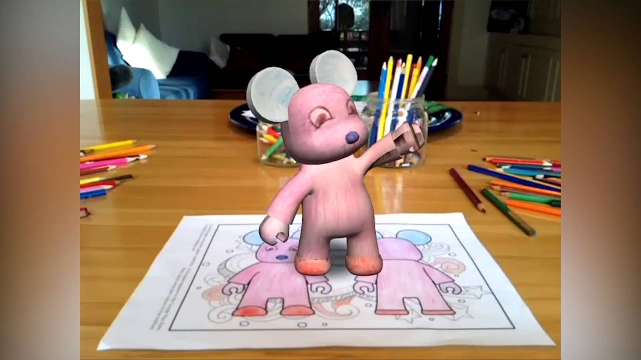 Colar Mix 3d Coloring Book : Quiver augmented reality trailer