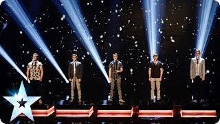 Musical Theatre Boyband Collabro Sing Bring Him Home Britain 39 S Got Talent 2014