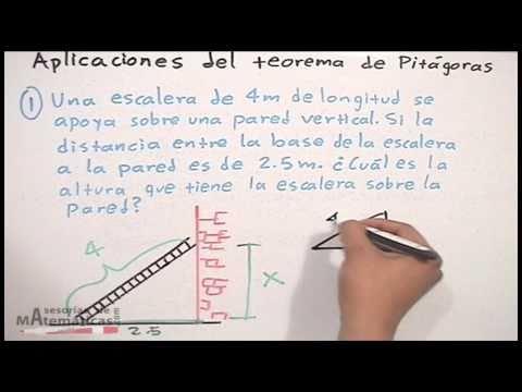 Aplicación del teorema de pitágoras - HD