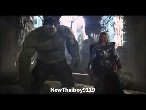 32 The Avengers vs Chitauri (a scene where they are all in it)