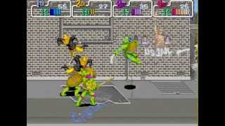 Teenage Mutant Ninja Turtles arcade 4 player Netplay 60fps