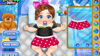 Colorful game - FROZEN ELSA MAKES THE BABY DOLLS SLEEP - Elsa & Anna Baby dressing Cartoons for kids