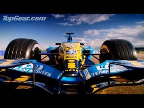 Richard drives a F1 car round Silverstone - Top Gear - BBC