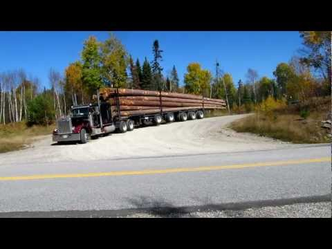 Peterbilt 359 Classic big smoke Logging