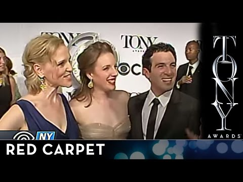 2014 Tony Awards: Red Carpet - Jessie Mueller, Jarrod Spector and Anika Larsen