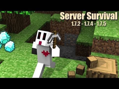 Minecraft Server Survival - 1.7.2- 1.7.4 - 1.7.5 | No Premium - No hamachi - 24/