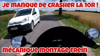 VLoG je manque un crash en moto , montage frein radial.