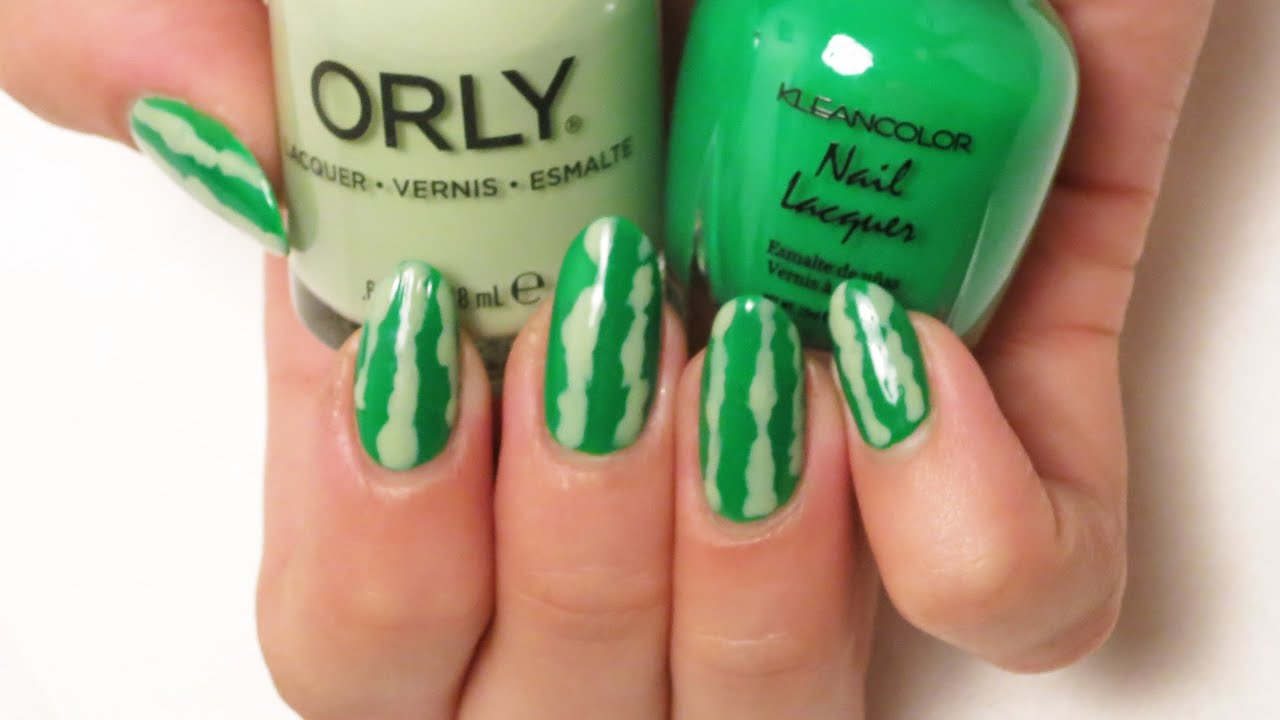 Watermelon Nail Art Cutepolish: Watermelon nails nail art inspiration.