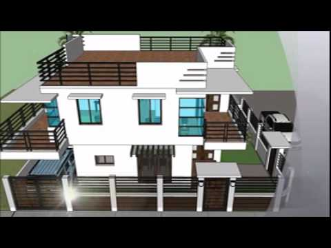 Modern 2 storey house with roofdeck youtube House plans for disabled people