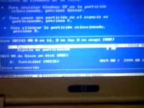 Como Instalar Windows XP en Laptop Canaima de 6TO grado