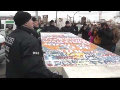 Berlin wall removal prompts protests