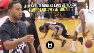 John Wall & Lou Williams TAKE OVER Packed Morehouse College at Ludacris