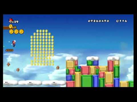 New Super Mario Bros. Wii 100%: 9-8 (The Real End) Video
