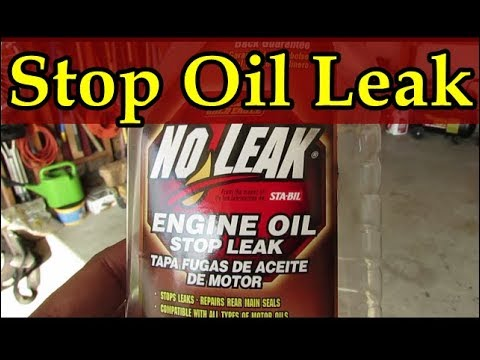 Why does my engine leak oil- stop and seal your engine from leaking - No more oil in the driveway