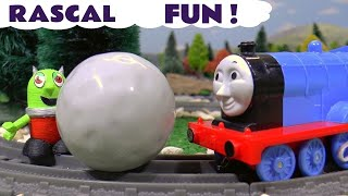 Funny Funlings play fun  Pranks on Thomas and Friends Toy Trains with Tom Moss TT4U