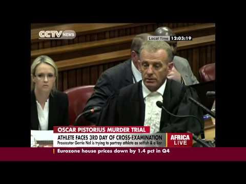 Oscar Pistorius Faces Day 3 of Cross Examination.