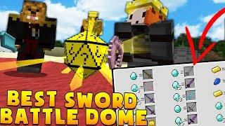 Minecraft STRONGEST SWORD EVER MODDED BATTLEDOME CHALLENGE - Minecraft Mod