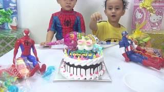 Trò Chơi Bé Đức và Bé Su Hào tổ chức sinh nhật cho Siêu Nhân
