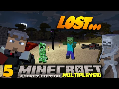 Minecraft PE Multiplayer 0.9.0 EP 5 Lost in Minecraft PE SMP Minecraft Pocket Edition