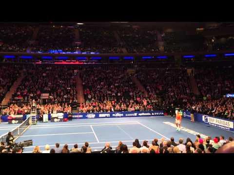 Grigor Dimitrov trick tennis shot against Roger Federer