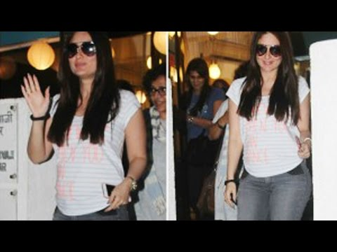 Pregnant Kareena Kapoor FIRST PUBLIC APPEARANCE with a baby bump!