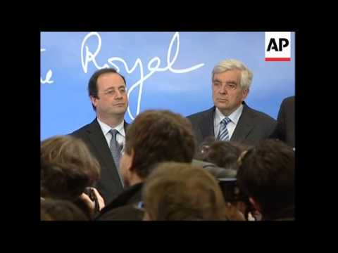 Presidential candidate Segolene Royal news conference