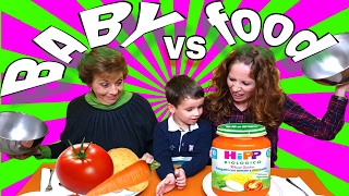 BABY FOOD vs ADULT FOOD 🚼SORPRESAS Y JUEGOS