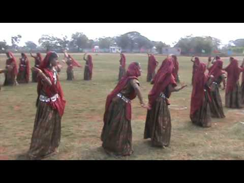Nagada Dance By Students Of Class 8 And 9 Of Sujatha School On The Eve Of Annual Sports Day 2014. video