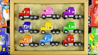 Learning Color Disney Pixar Cars Lightning McQueen mack truck Vehicle sand Play for kids car toys