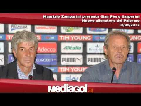 Maurizio Zamparini presenta Gian Piero Gasperini al Palermo - 18/09/2012 - Mediagol.it