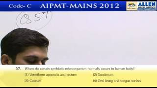 AIPMT 2012 Mains Biology [Code-C] By :Ashish Bajpai Sir