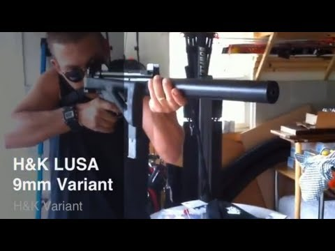 LUSA 9mm carbine with MP5 Style folding stock