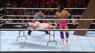 Sheamus vs. Damien Sandow - Raw Roulette Tables Match: Raw, Jan. 28, 2013