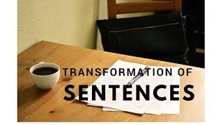 Changing Sentence 1