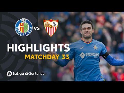 Highlights Getafe CF vs Sevilla FC (3-0)
