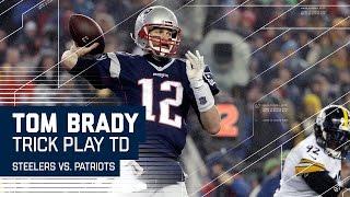 Tom Brady Hits Hogan for TD on Flea Flicker!   Steelers vs. Patriots   AFC Championship Highlights
