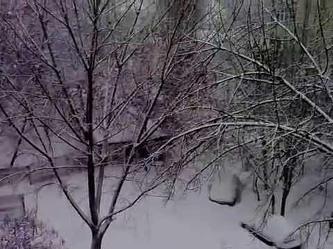 Galatz, Romania December 29, 2014 winds& blizzards/ centru Galati ora 13 viscol intre blocuri
