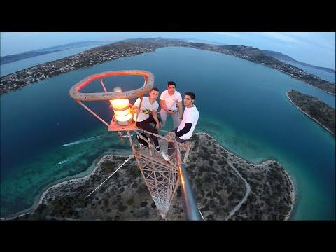 Climbing a 170m Radio Tower in Greece (Aegean Sea)