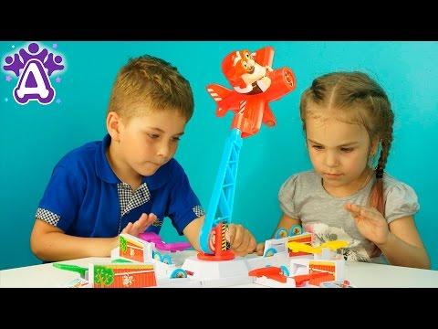 Пилот Луи пугает кур Игры Для Детей Распаковка Unboxing toys Loopin Louie Развивающая Игра