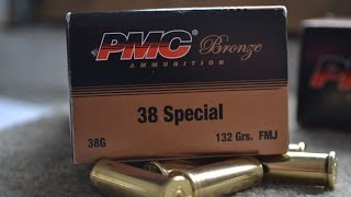 Range test of the .38 Special PMC Broze Ammo