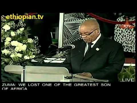 South African President Jacob Zuma Speaks at Funeral Service for Ethiopian PM Meles Zenawi