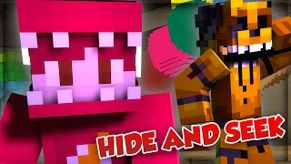 OMG GOLDEN FREDDY! | Minecraft FNAF Hide and Seek! (FNAF WORLD)