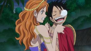 Nami despertando a Luffy - Nami waking up Luffy One Piece 767